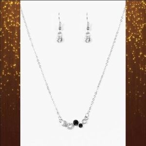 Black Cabaret Necklaces with earrings